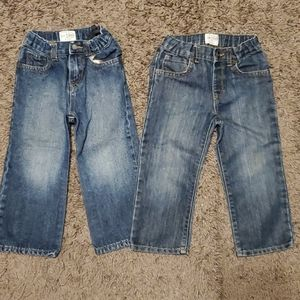 Blue Jeans Size 3T both with Adjustable Waists